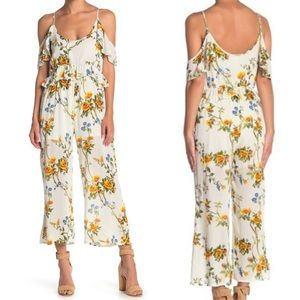 NWT Raga Buttercup Fields Floral Jumpsuit Small